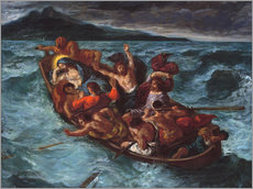 Gallery print  Christ asleep during the storm - Eugene Delacroix