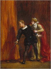 Gallery print  Hamlet and his mother - Eugene Delacroix