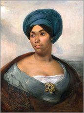 Wall sticker  Woman in a Blue Turban - Eugene Delacroix