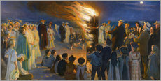 Peder Severin Kroyer - Midsummer Eve bonfire on Skagen's beach
