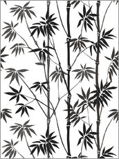 Gallery print  Bamboo black / white