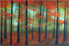 Wall sticker Forest dawn
