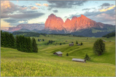 Wall sticker Alpenglow in the Dolomites