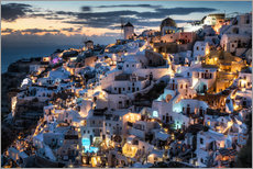 Gallery print  Santorini, after sunset - Dennis Fischer