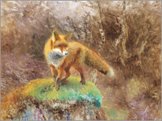 Gallery print  Fox in an autumn landscape - Bruno Andreas Liljefors
