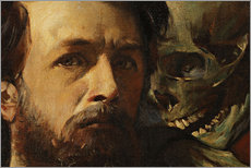 Wall sticker  Fiddling Death (detail) - Arnold Böcklin