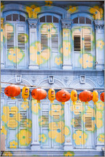 Wall Stickers  Painted shutters in Chinatown, Singapor - Matteo Colombo