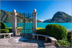 Wall sticker  Gate to Lake Lugano in Lugano, Ticino, Switzerland - Peter Wey