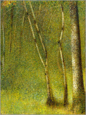 Gallery Print  The Forest at Pontaubert - Georges Seurat