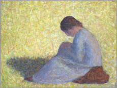 Gallery print  Peasant Woman Seated in the Grass - Georges Seurat
