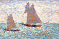 Wall sticker  Boats In Harbor - Georges Seurat