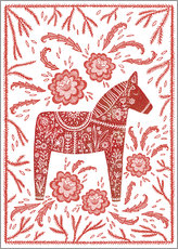 Wall sticker  Swedish Dala horse - Nic Squirrell