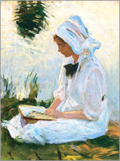 Wall sticker  Girl reading by a stream - John Singer Sargent