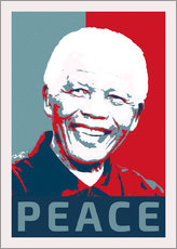 Gallery print  Nelson Mandela Peace and Hope - Alex Saberi