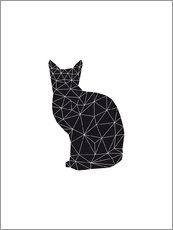 Wall sticker  Black Cat - Nouveau Prints