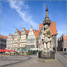 Wall sticker  Historic Market Square in Bremen with Roland Statue - Jan Christopher Becke