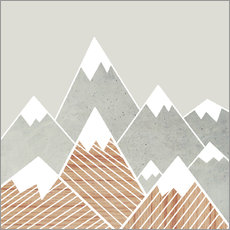 Gallery print  Concrete mountains 2 - Mia Nissen