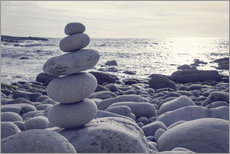 Gallery Print  Pyramid of pebbles on the sea front - Elena Schweitzer