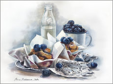 Wall sticker  Muffins and milk - Maria Mishkareva