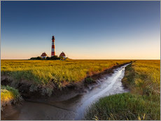 Wall Stickers  Lighthouse Westerhever in the evening light - Heiko Mundel