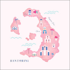 Carly Watts - Santorini Map