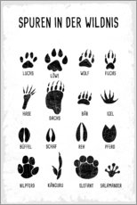 Wall sticker  Foot prints in the wild - Kidz Collection