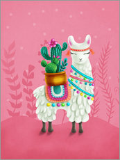 Gallery print  Illustration of a cute llama - Elena Schweitzer