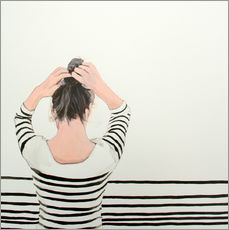 Wall sticker striped shirt