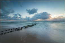 Gallery print  Groyne in the evening on Sylt (long exposure) - Heiko Mundel