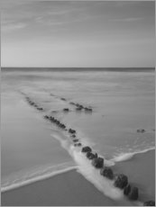 Gallery print  Groyne on Sylt (long exposure) - Heiko Mundel