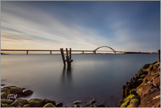Wall sticker  Fehmarnsund Bridge in the evening light (long exposure) - Heiko Mundel