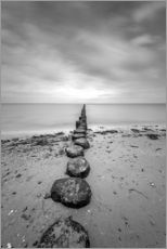 Gallery print  Groyne on Rügen (long exposure) - Heiko Mundel