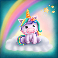 Wall sticker Cute unicorn