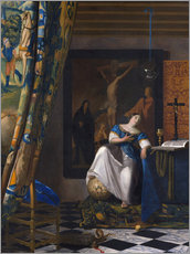 Wall sticker  The Allegory of the Faith - Jan Vermeer