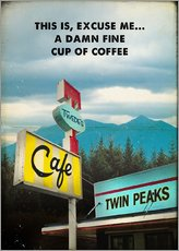 Wall sticker  Twin Peaks vintage - 2ToastDesign