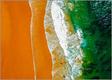 Gallery Print  Ocean waves and sand beach in Portugal - Radu Bercan