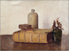 Wall sticker  still life with three books - Jan Mankes