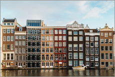 Gallery print  Colorful House Facade Amsterdam - Radu Bercan