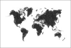 Radu Bercan - Map Of The World Sketch