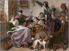 Gallery print  As the Old Sing, So Pipe the Young - Jan Havicksz. Steen