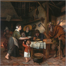 Gallery print  The Satyr and the Peasant Family - Jan Havicksz. Steen
