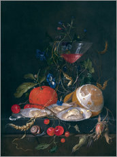 Gallery print  still life with a glass and oysters - Jan Davidsz de Heem