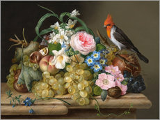 Wall sticker  Two floral still lifes - Franz Xaver Petter