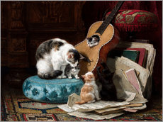 Gallery print  The guitar lesson - Henriette Ronner-Knip