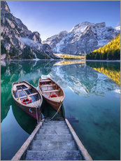 Gallery print  Braies South Tyrol - Achim Thomae