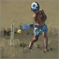 Gallery print  Beach Cricket 1 - Claire McCall