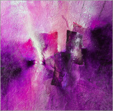 Wall sticker abstract composition with magenta