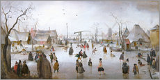 Wall Stickers  Winter landscape with skaters - Hendrick Avercamp