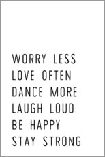 Wall sticker Worry less and stay strong