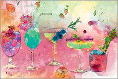 Wall sticker  Summer cocktails - Ella Tjader